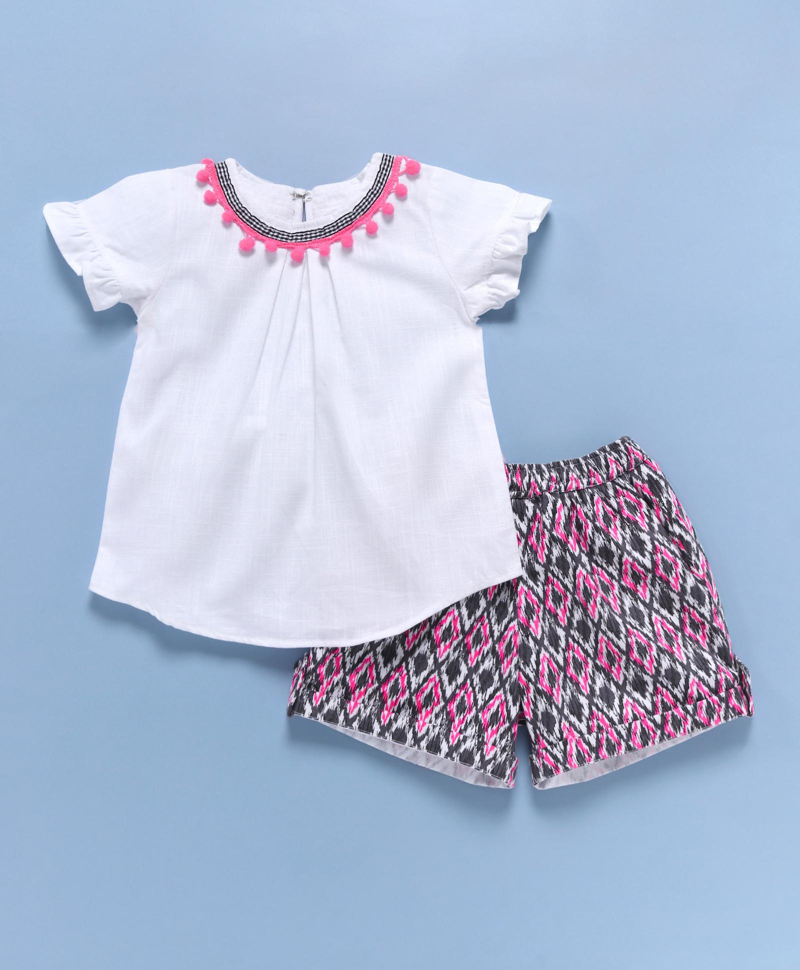 Popsicles Clothing   Popsicles Aztec Shorts Set Regular Fit Dress For Girl