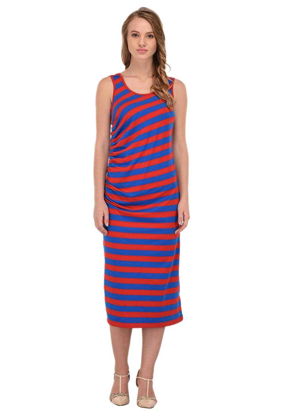 Porsorte   PORSORTE Women A-Line Striped Dress