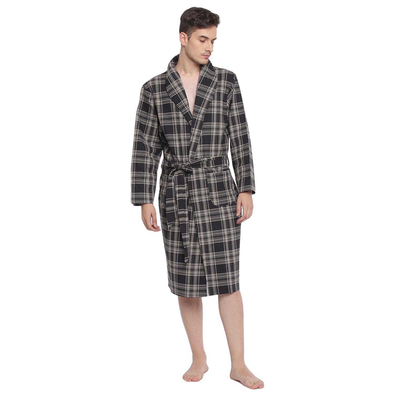 BASIICS by La Intimo   Checky Fun Men Luxury Robe