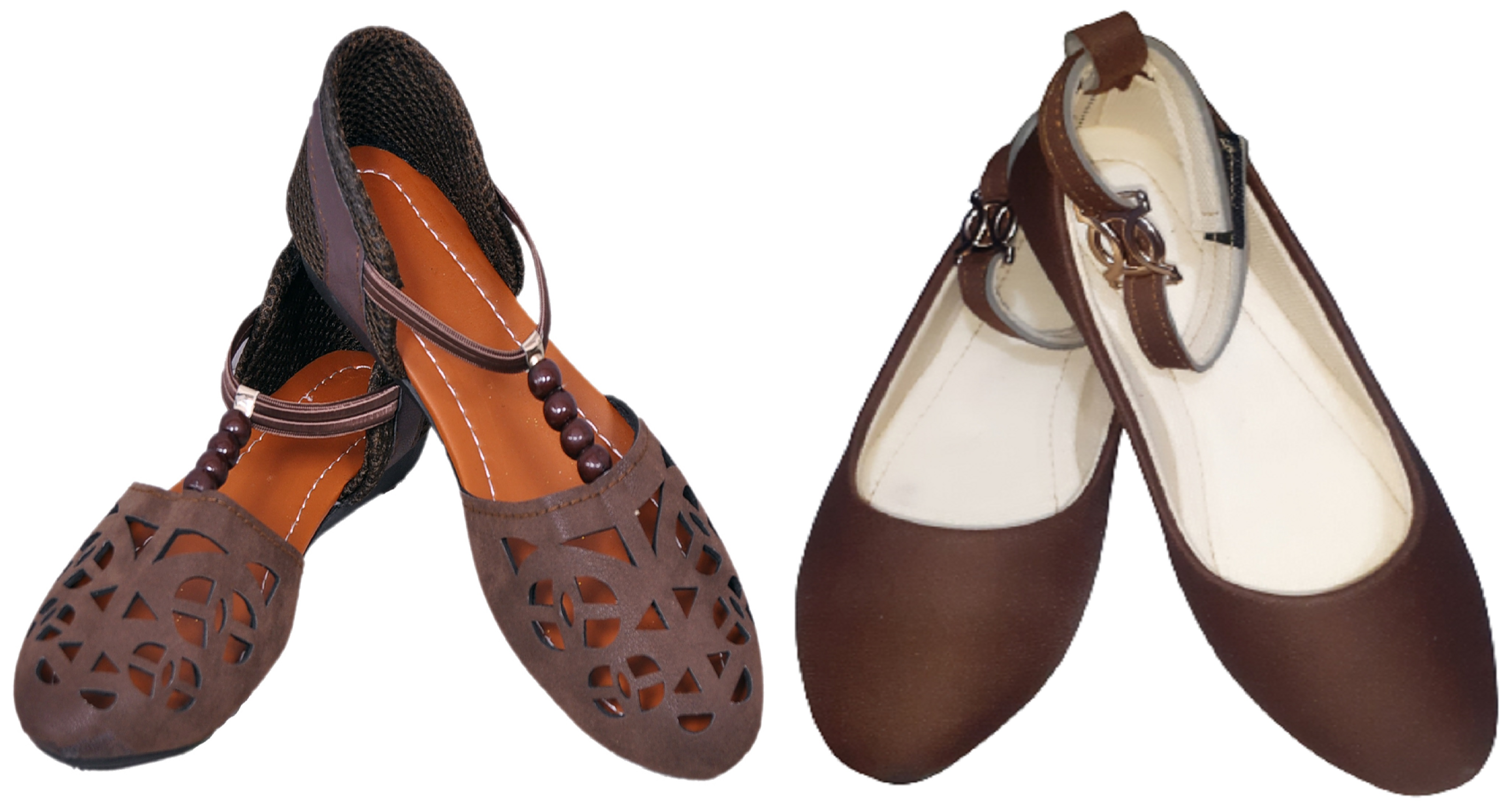 PURE CART | Gorgeous Bellie, Flats for Women (Pack of 2)