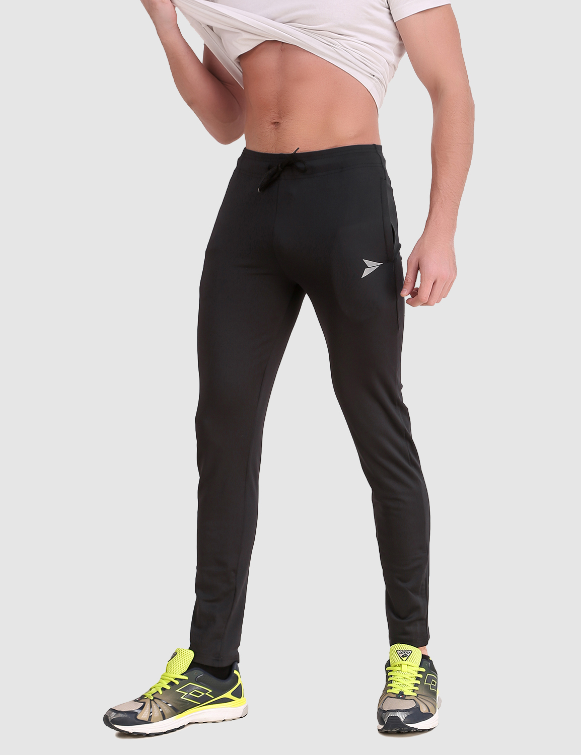 Fitinc | Fitinc Slim Fit Black Track Pant for Workout