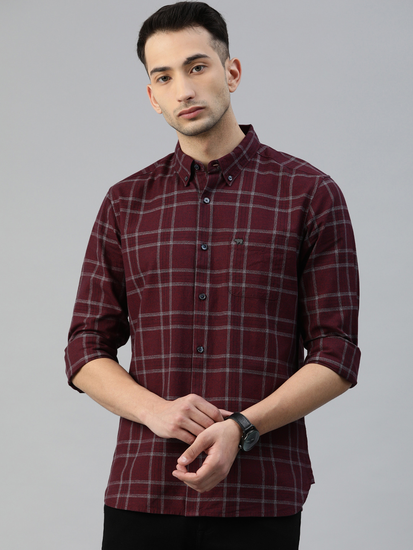 The Bear House | Men's Checkered Button-Down Casual Shirt