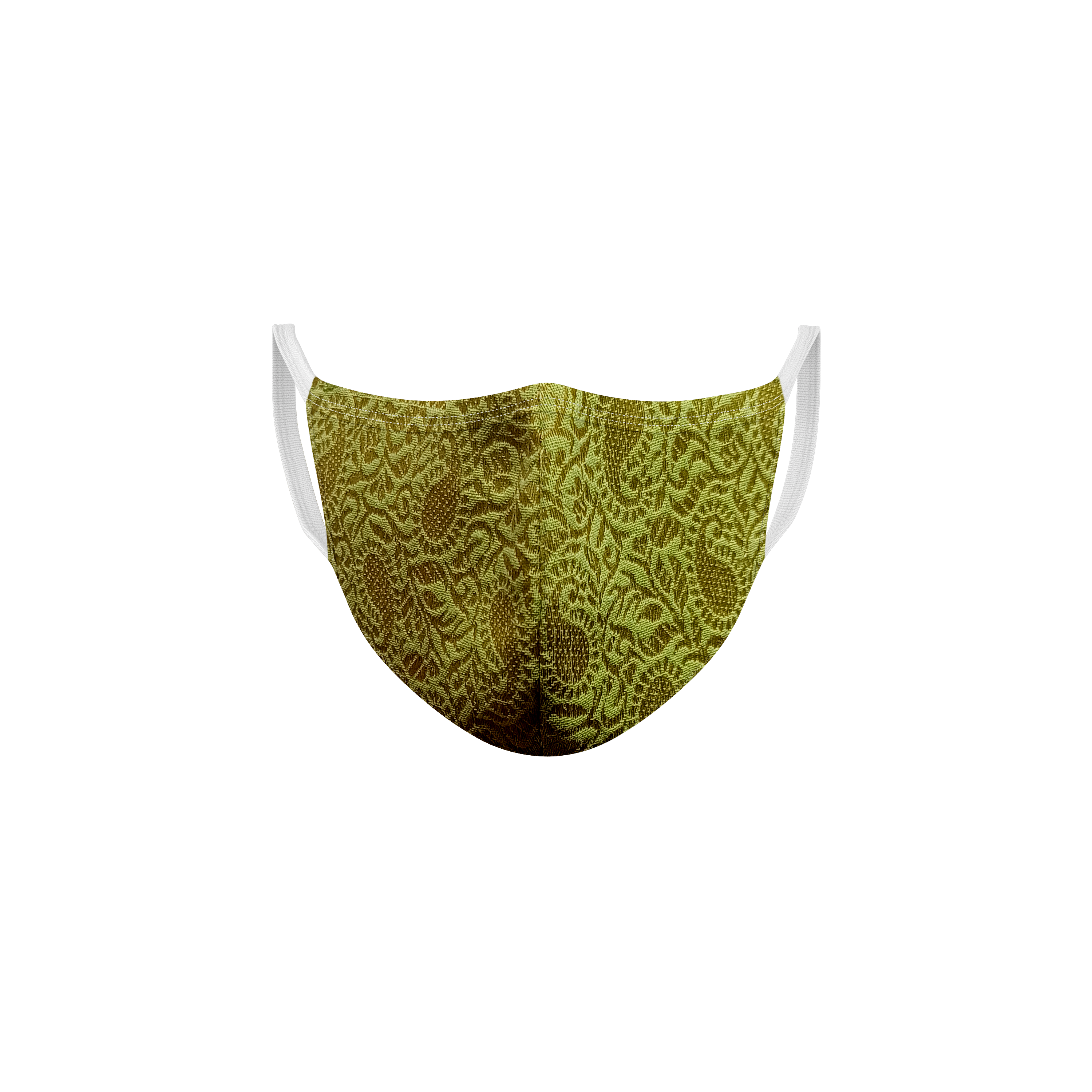 Ethnicity | Ethnicity Sap Green_Off White pack of 2 Women fashion mask
