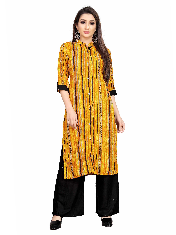 SATIMA | Women Yellow Kurta Palazzo Set