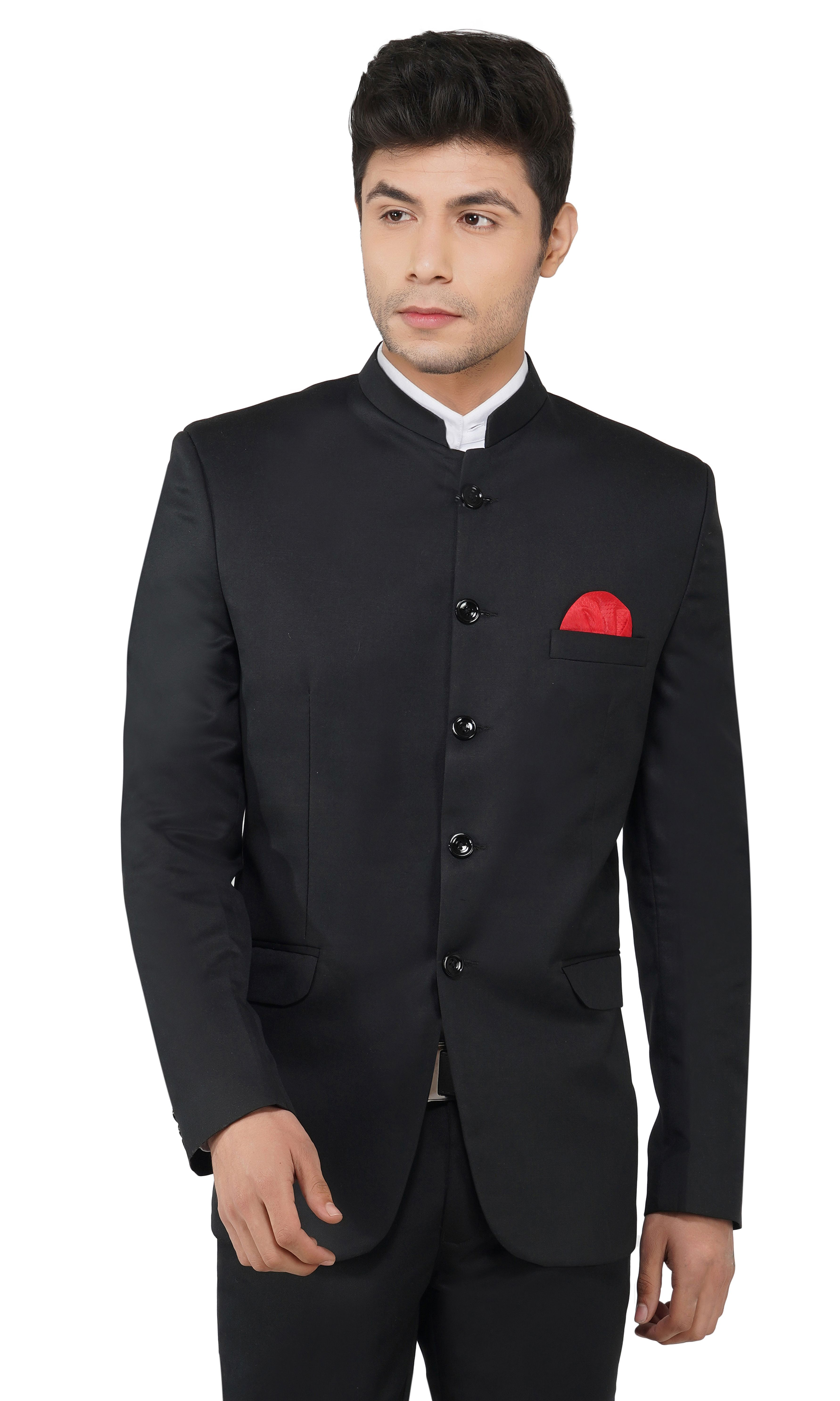 TAHVO | Black Bandh Gala Blazer For Men