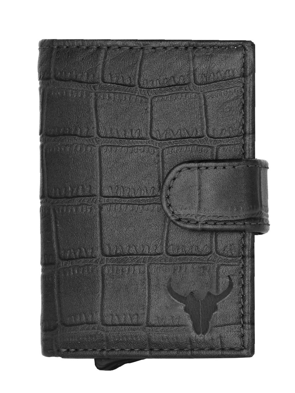 Napa Hide   Napa Hide RFID Protected Genuine High Quality Black Leather Card Holder For Men