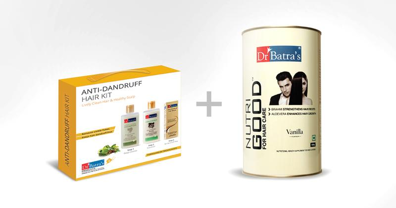 Dr Batra's | Dr Batra's Anti-Dandruff Hair Kit Lively Clean Hair & Healthy Scalp - 525 ml and NutriGood For Hair Care