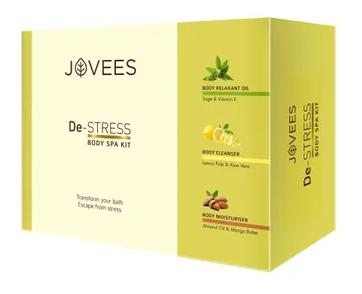 Jovees | JOVEES De-Stress Body Spa Kit Big (Body Moisturizer+Cleanser+Relaxation Oil) (3 item inside pack)