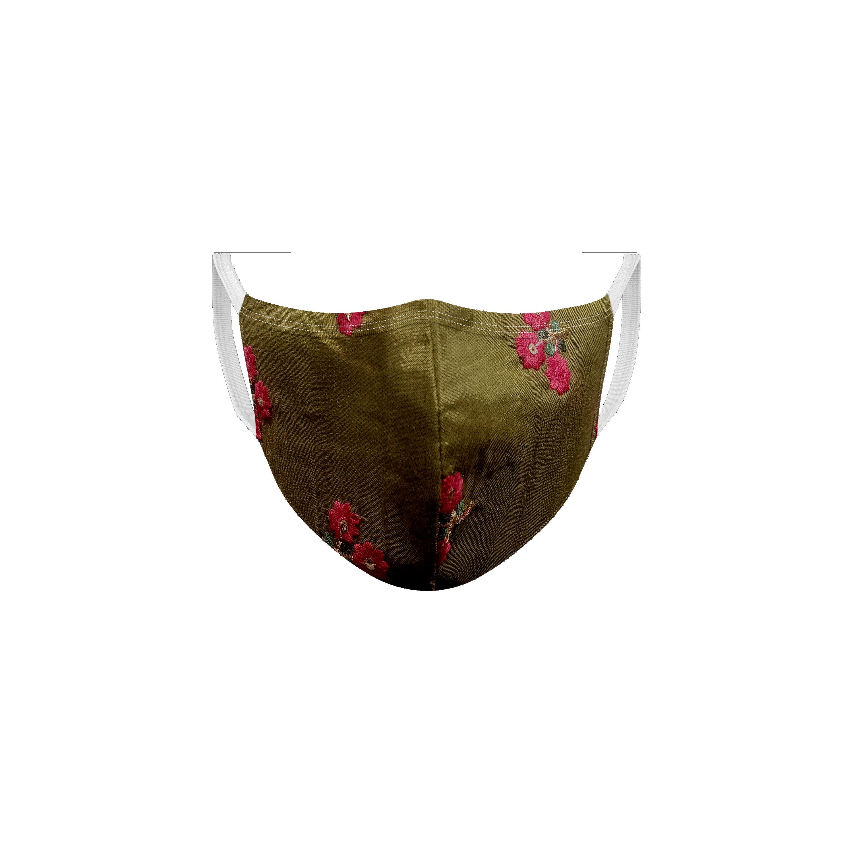 Ethnicity | Ethnicity Fuchsia_Olive pack of 2 Women fashion mask