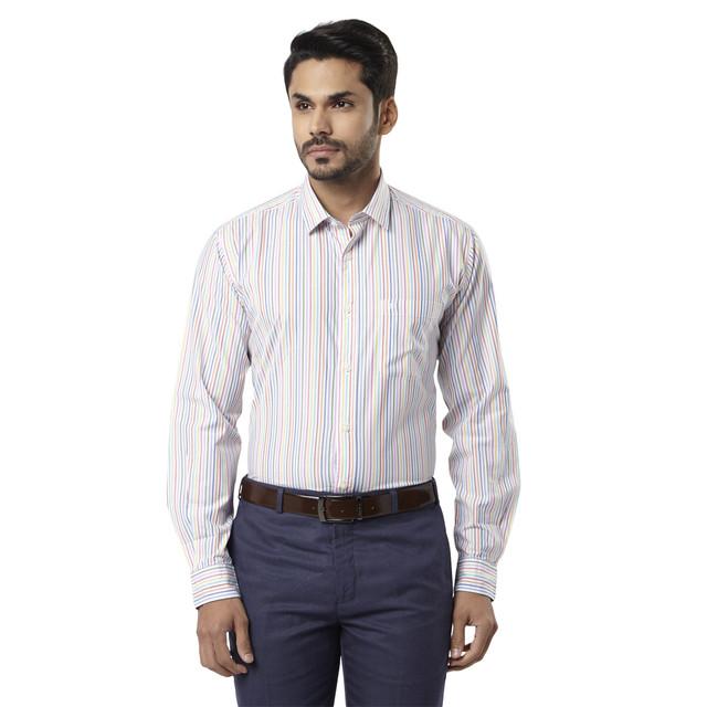 Raymond | Multicoloured Striped Casual Shirt