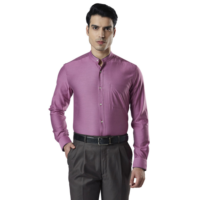 Raymond   Purple Solid Formal Shirt