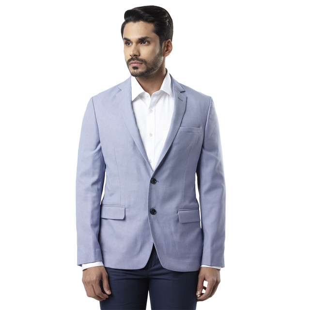 Raymond   Blue Solid Blazer