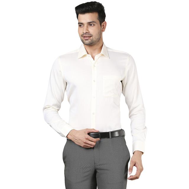 Raymond   Raymond Yellow Formal Shirt