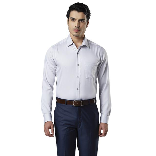 Raymond | Grey Solid Formal Shirt