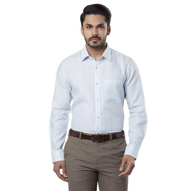 Raymond | Blue Striped Formal Shirt