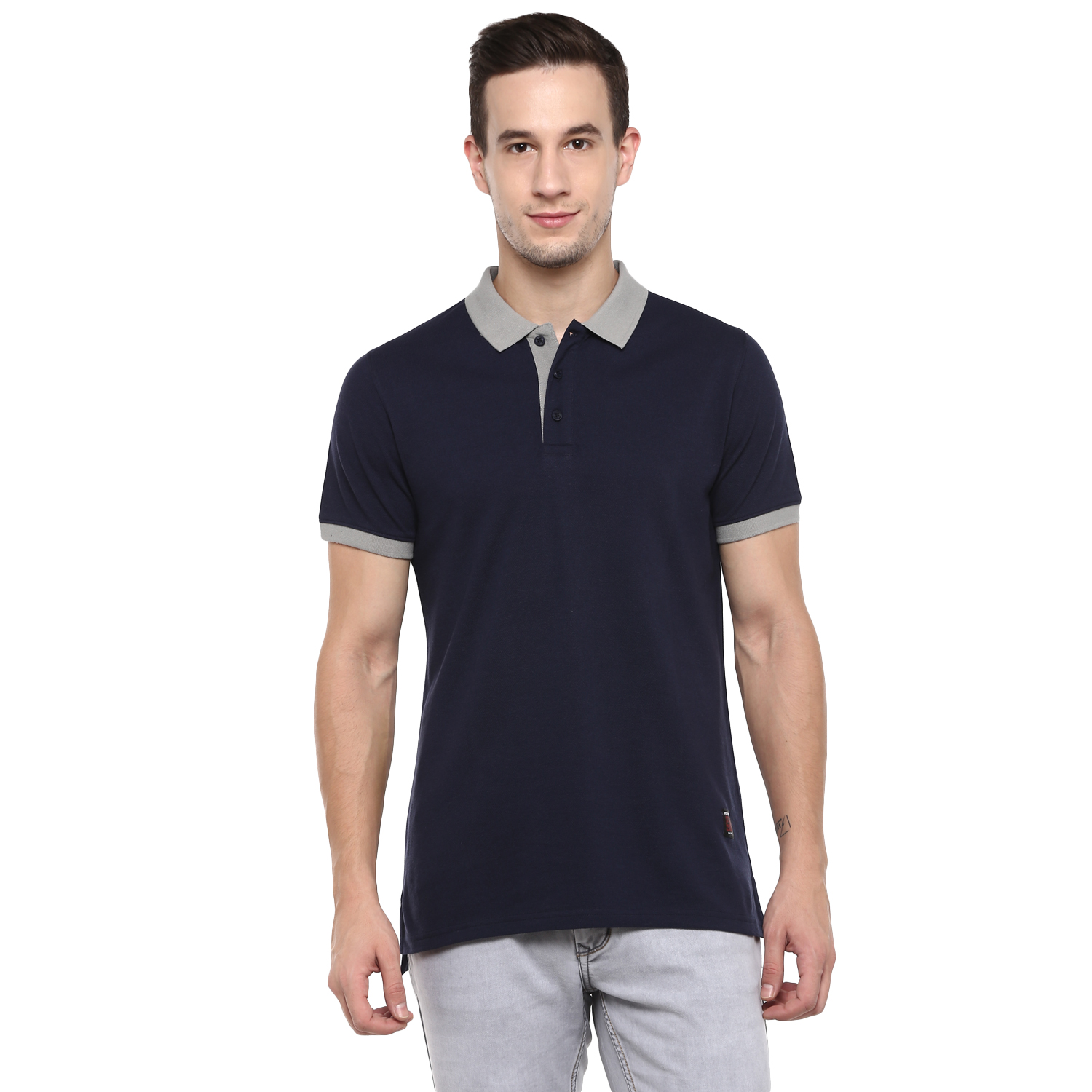 RED CHIEF   Navy Solid Polo T-Shirt