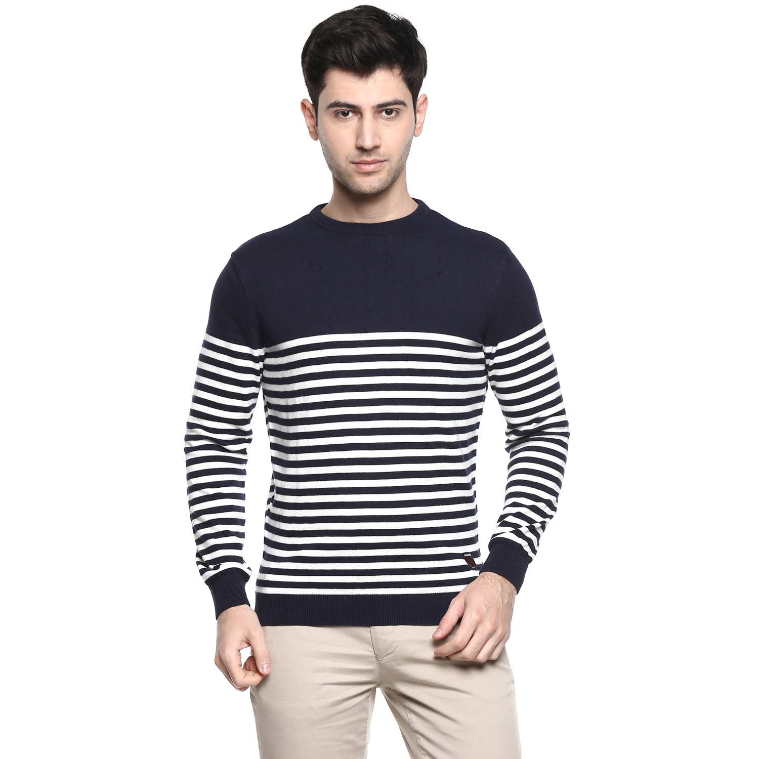 RED CHIEF | Navy Striped Sweater