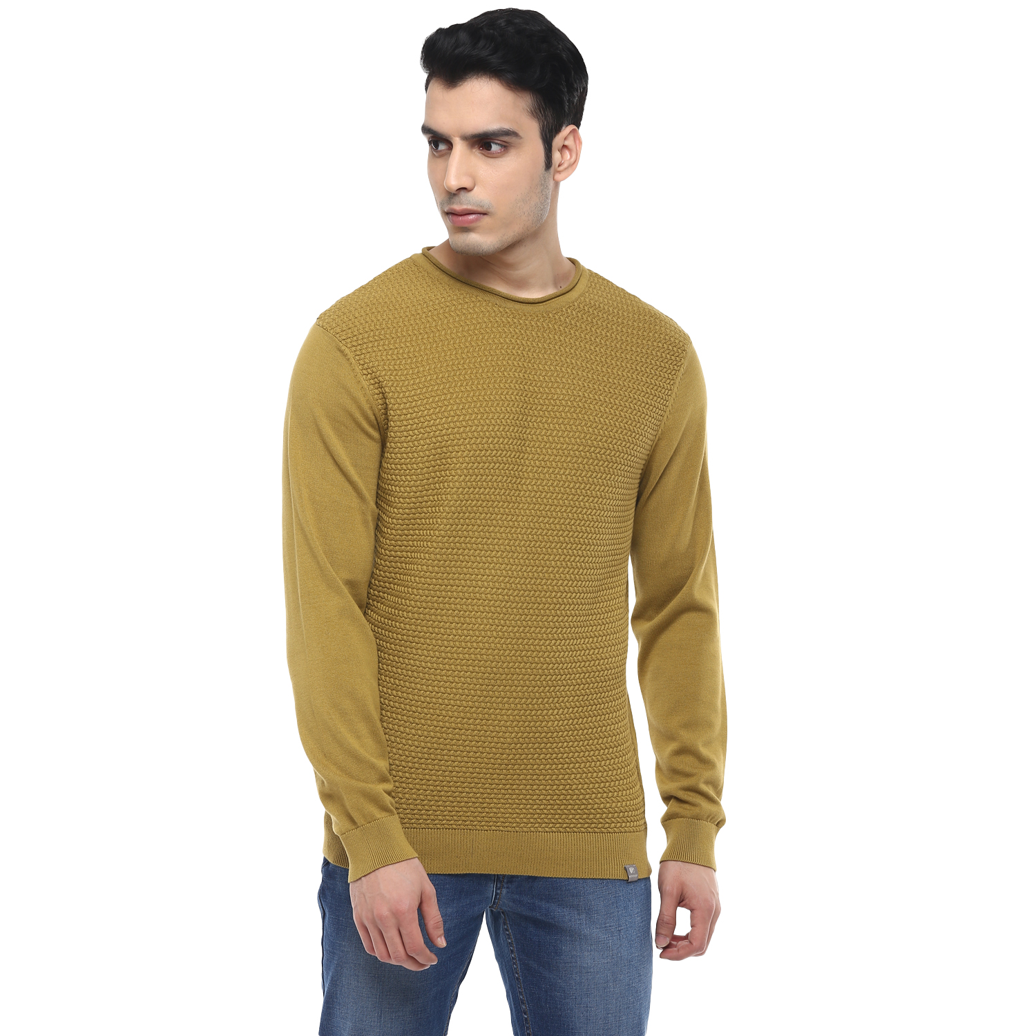 RED CHIEF | Olive Solid Sweater