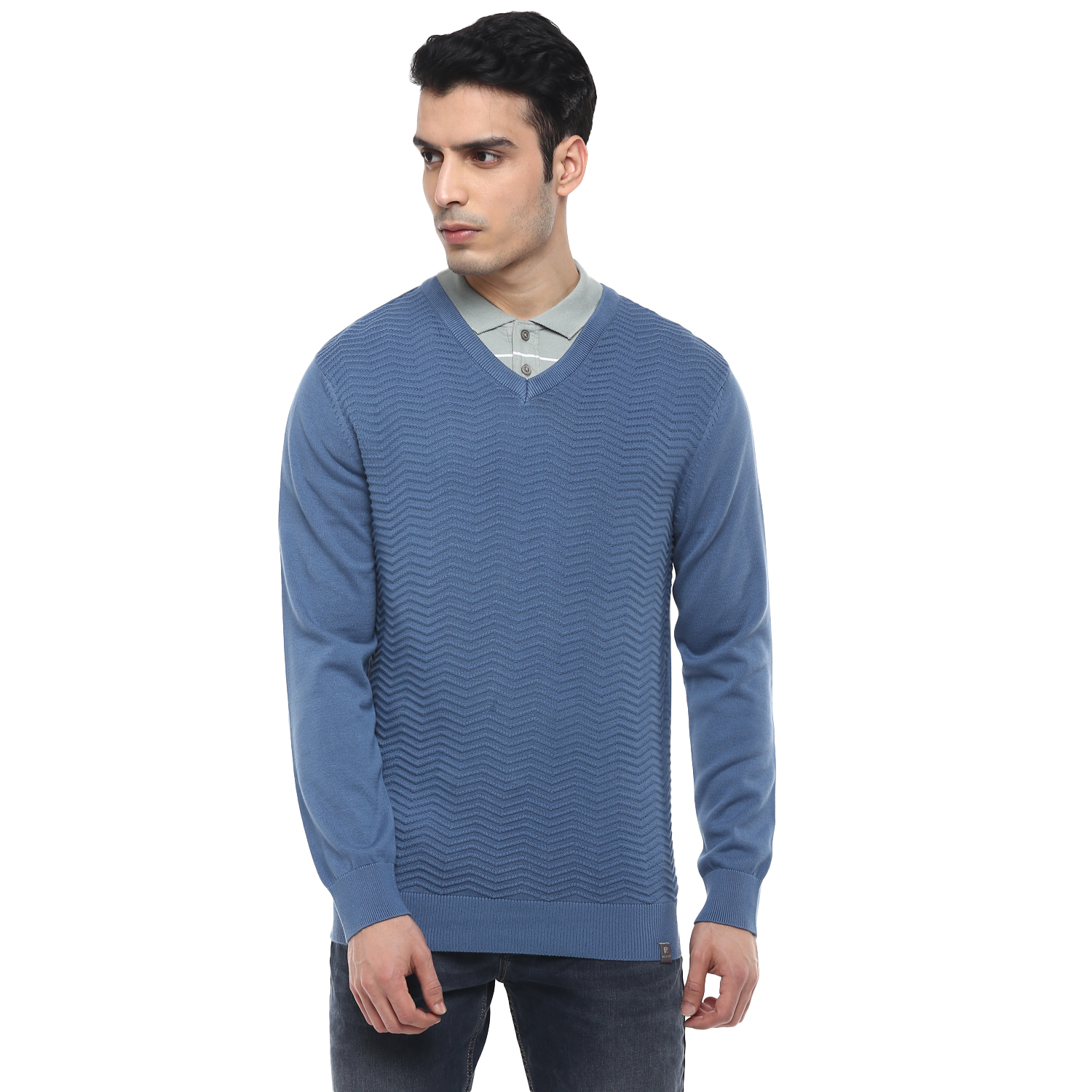 RED CHIEF | Blue Solid Sweater