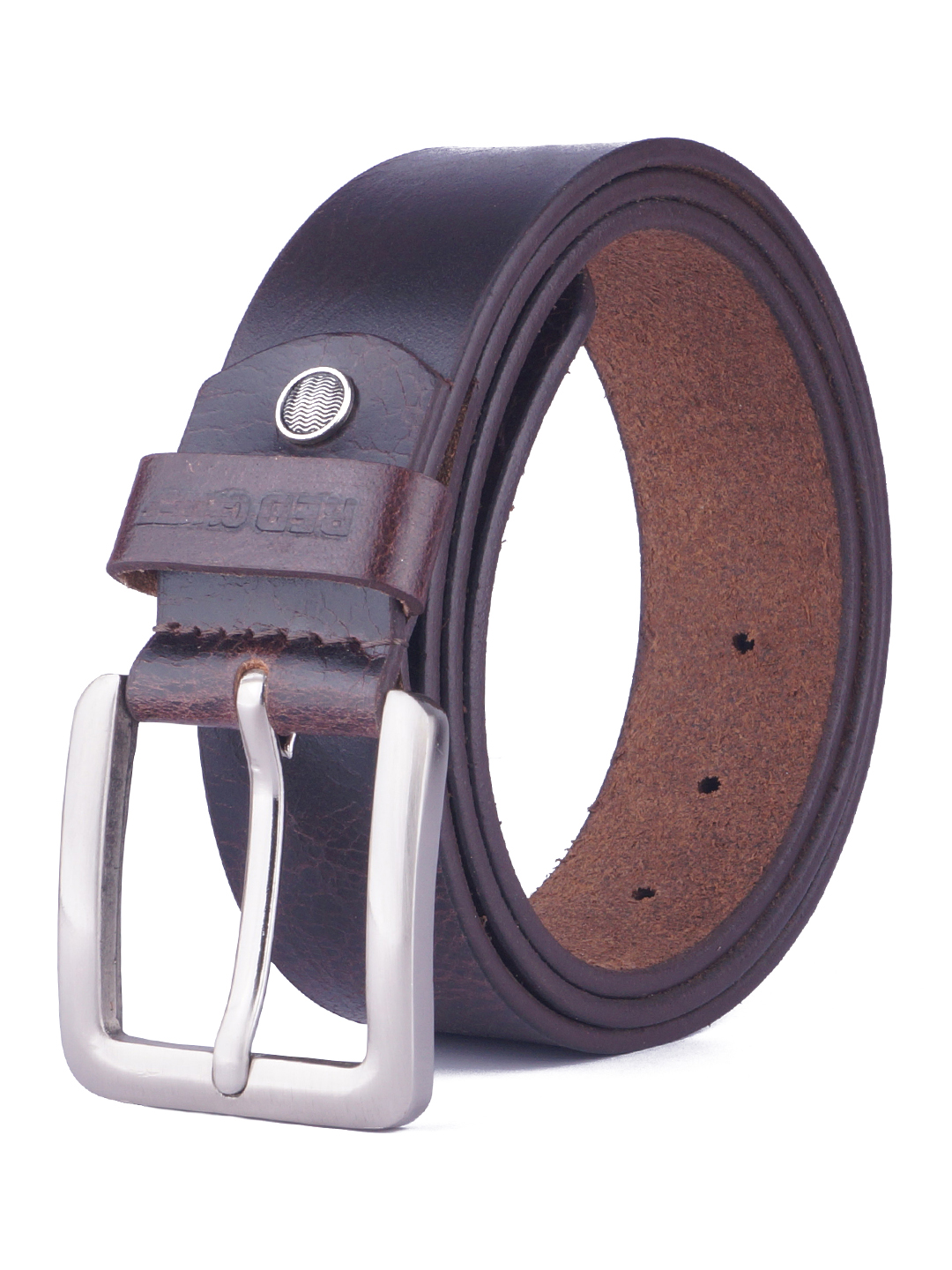 RED CHIEF   Red Chief Men Leather Casual Belt (Brown)