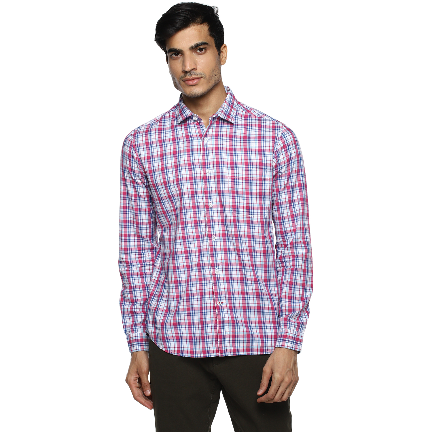 RED CHIEF   Pink Checked Casual Shirt