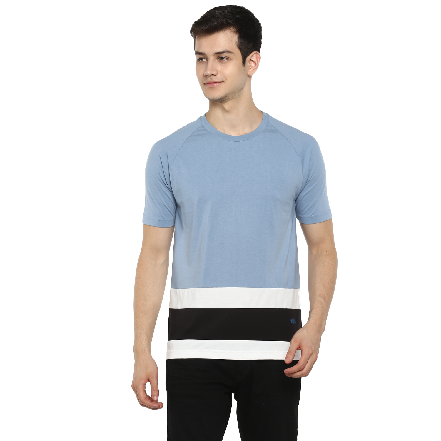 RED CHIEF | Sky Blue Solid T-Shirt