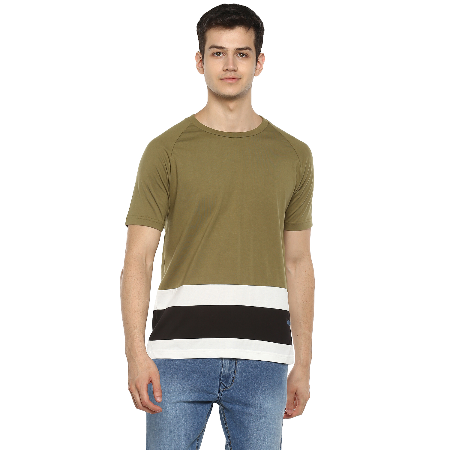 RED CHIEF | Olive Solid Polo T-Shirt