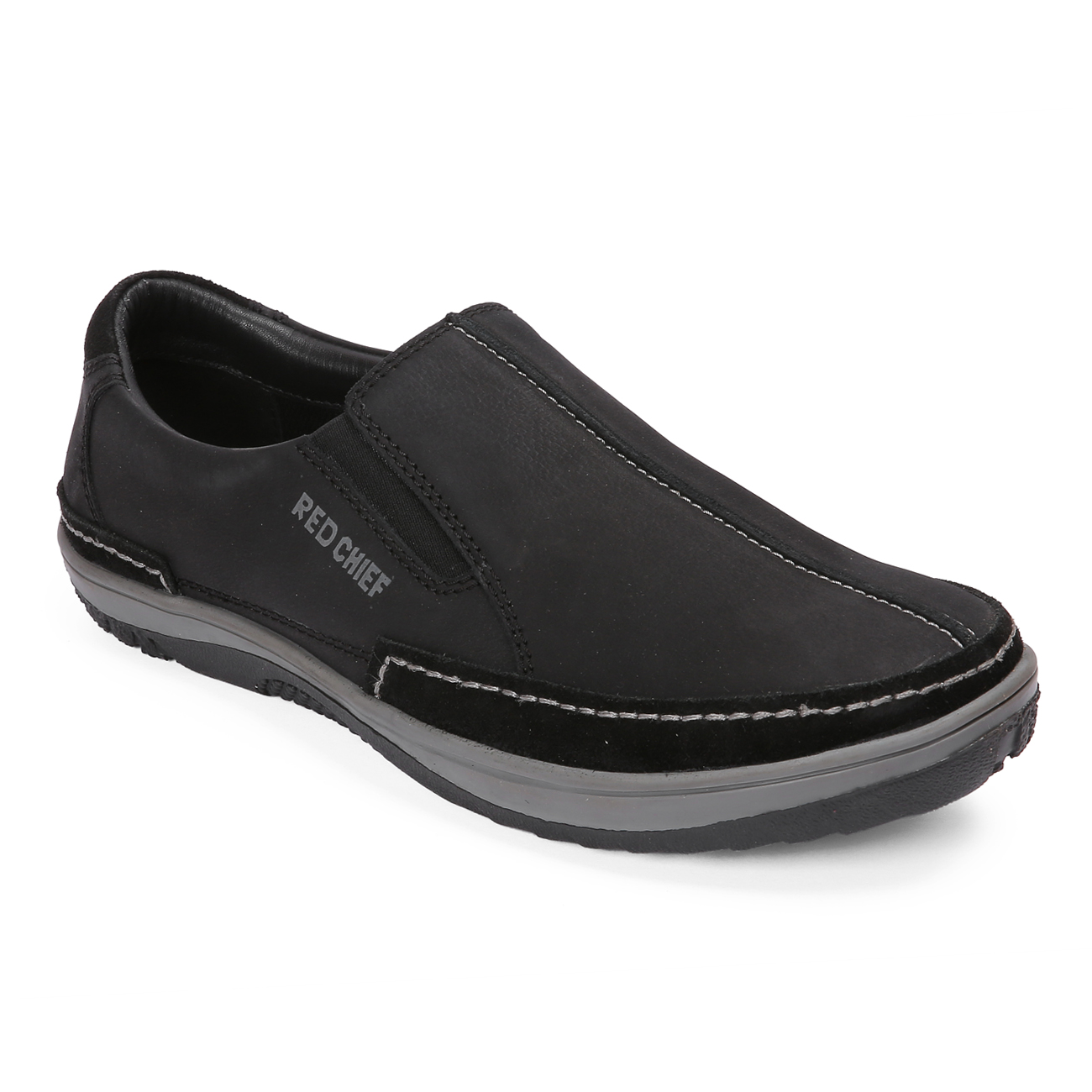 RED CHIEF | Black Casual Slip-ons