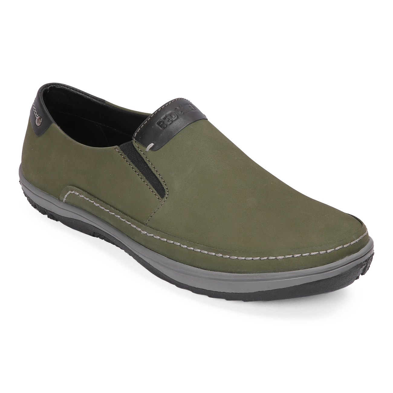 RED CHIEF | Green Casual Slip-ons