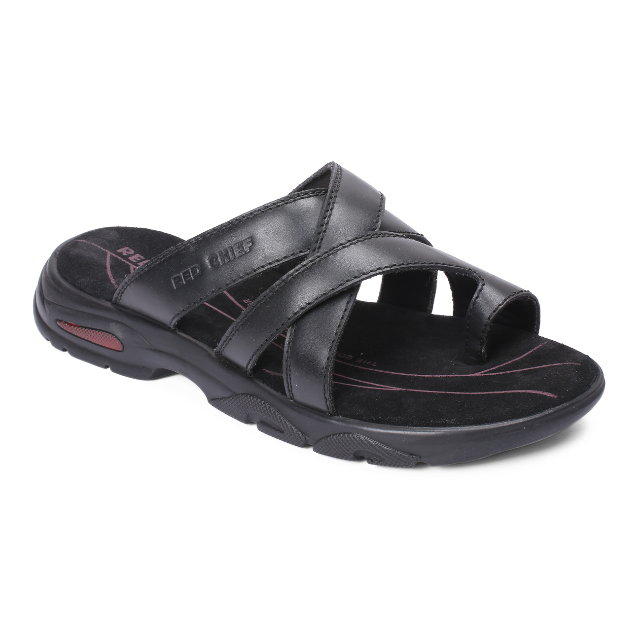 RED CHIEF | Black Sandals