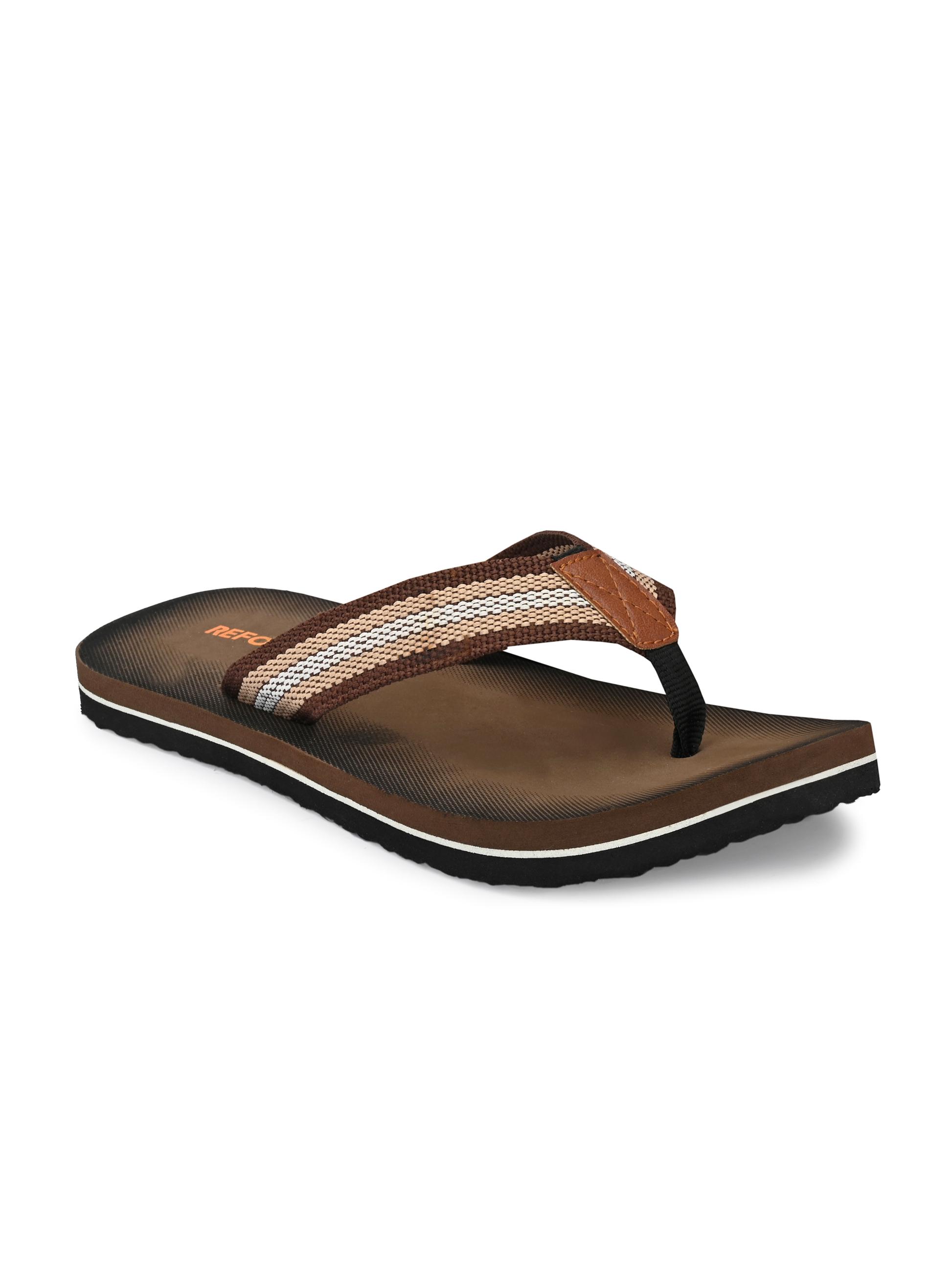 REFORCE | Reforce Men's Brown Fabric Casual Slipper