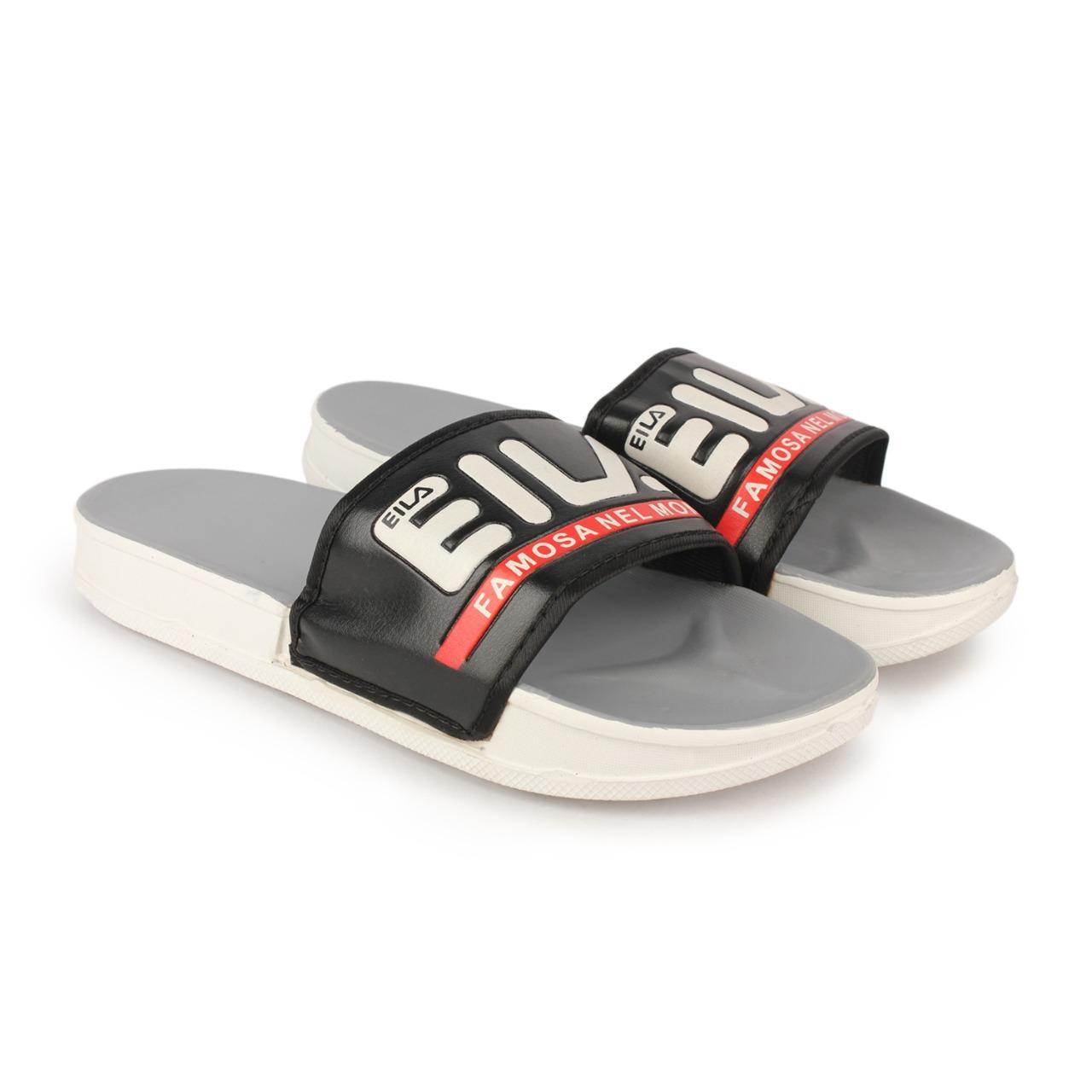 RNT | RNT Eila Grey Black Slipper for Men