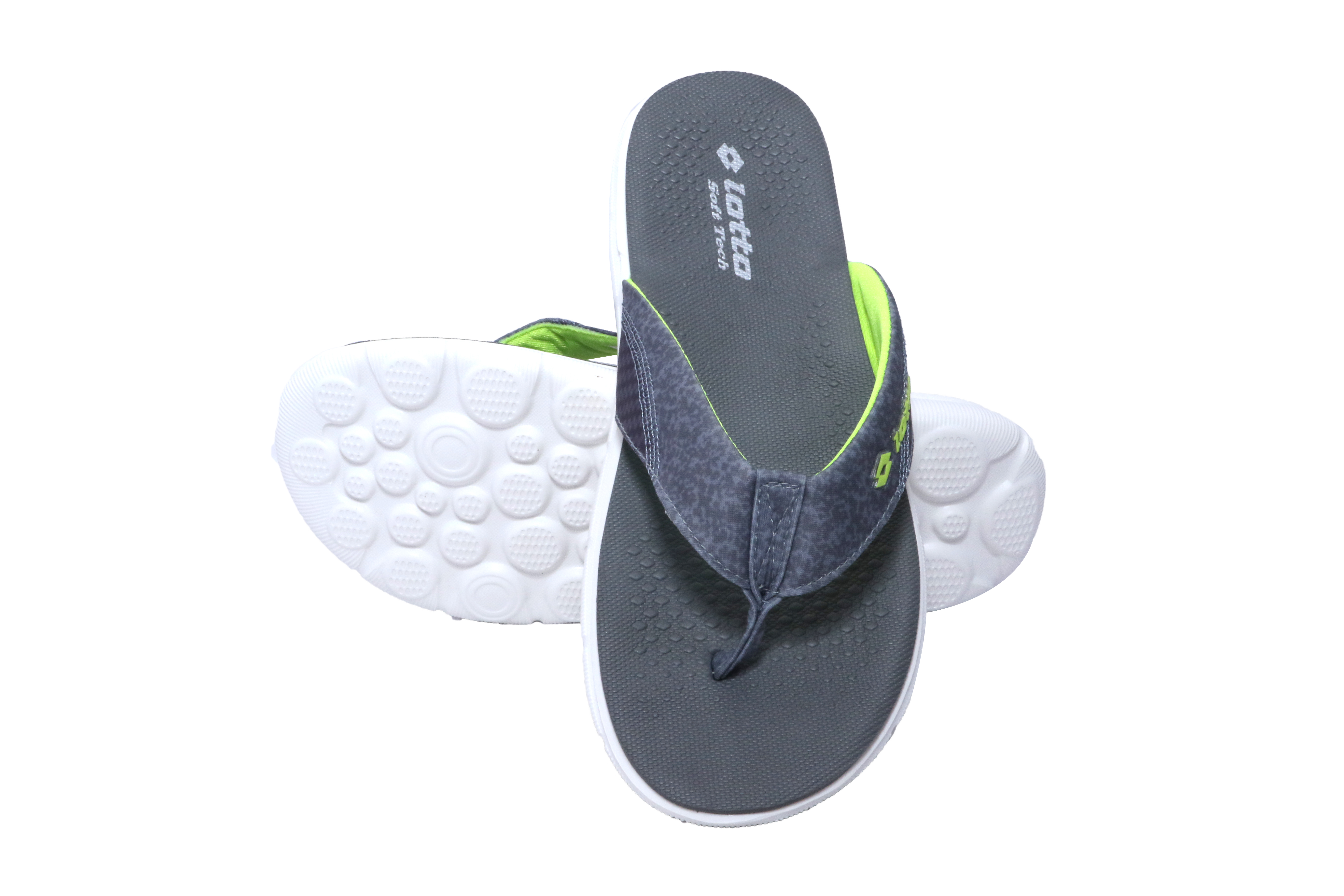 Lotto   Lotto Men's Easter Grey/Lime Slippers