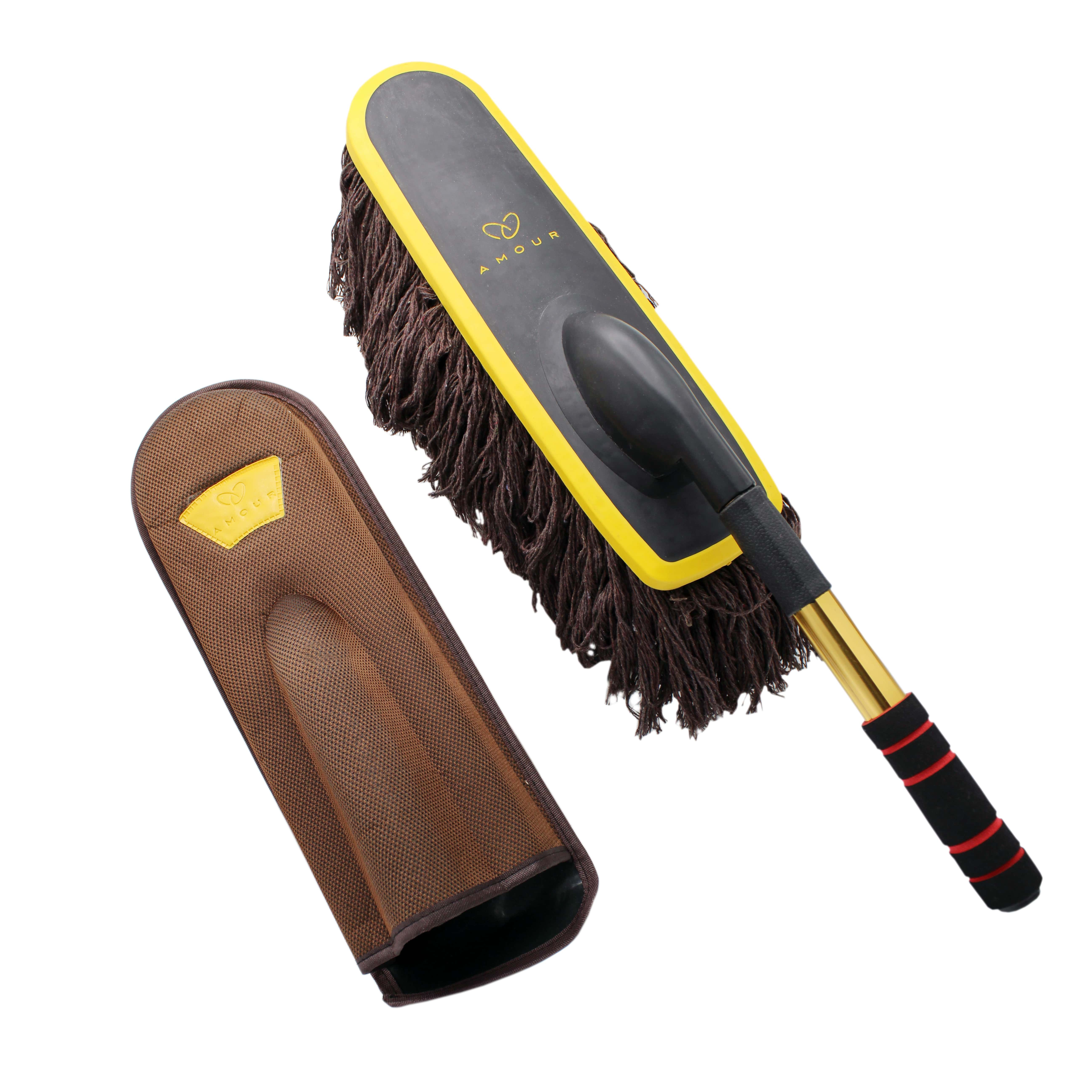 Amour | Amour Super Soft Microfiber Car Dash Duster Brush for Car Cleaning Home Kitchen Computer Cleaning Brush Dusting Tool with Case (Multi)