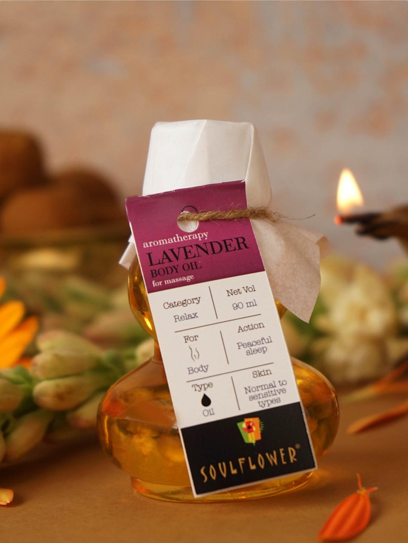 Soulflower | Lavender Aroma Massage Oil - 90ML