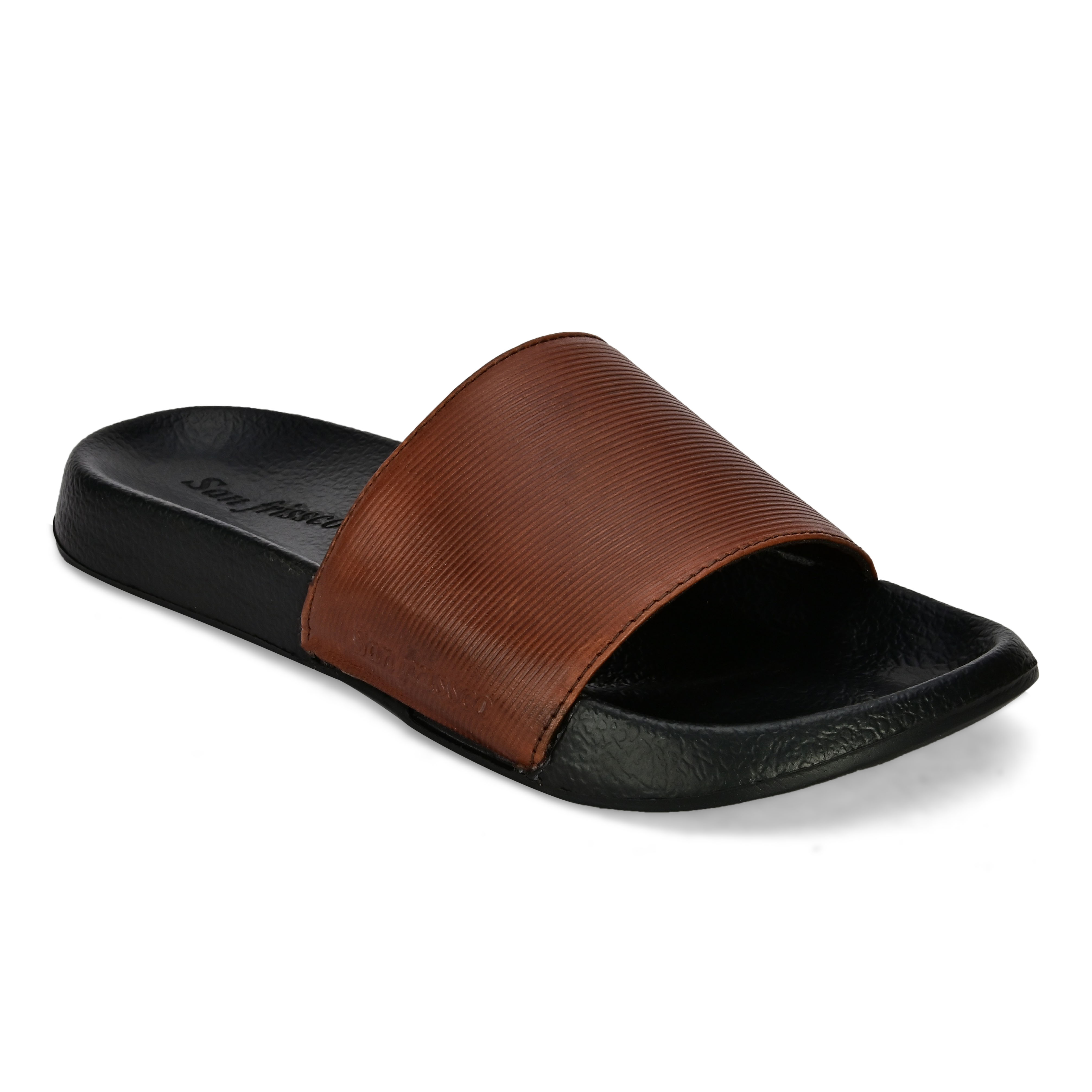 San Frissco   San Frissco Men Faux Leather Opel Tan Comfort Sliders
