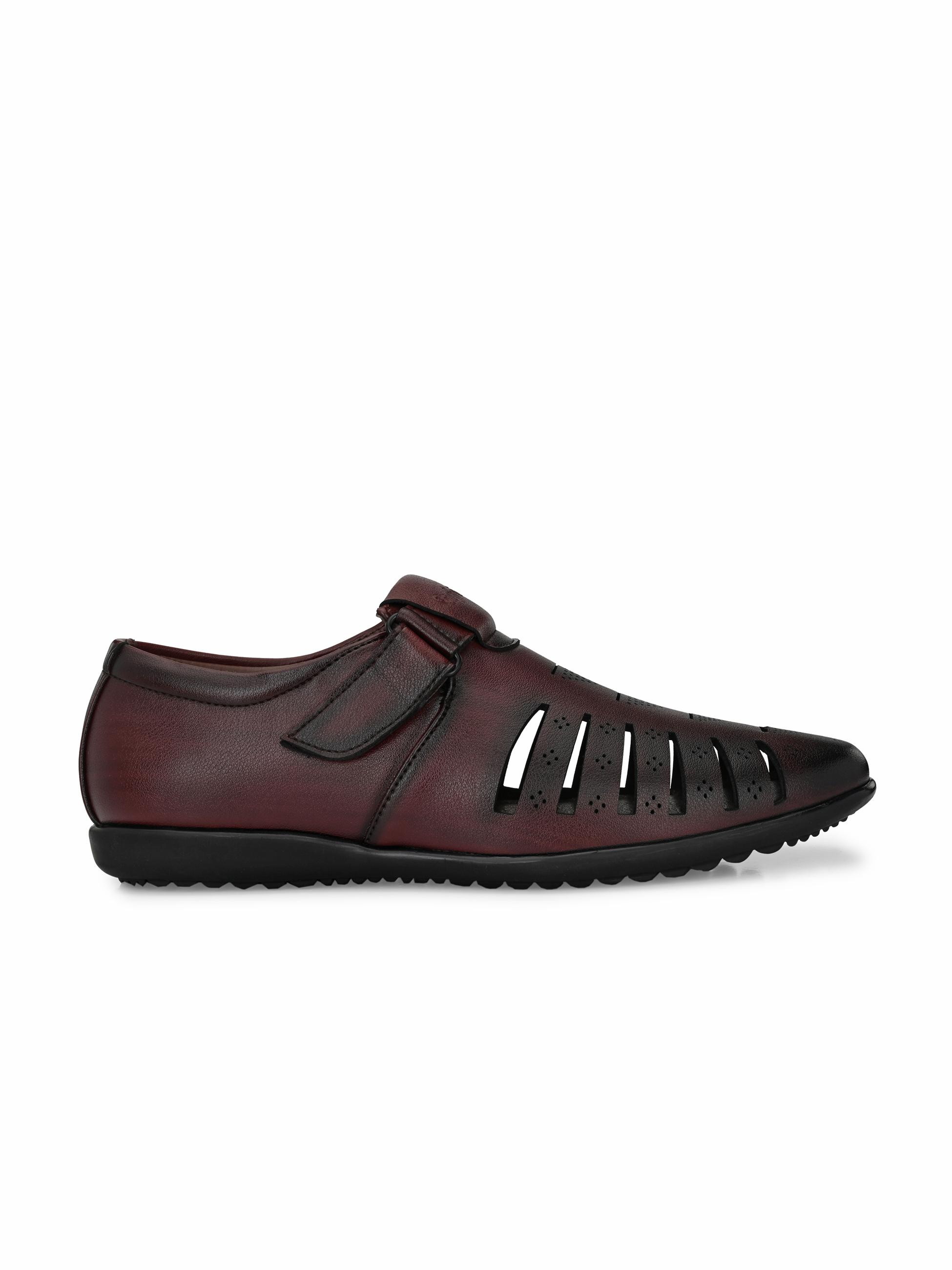 San Frissco | San Frissco Men's Faux Leather True Cherry Sandals