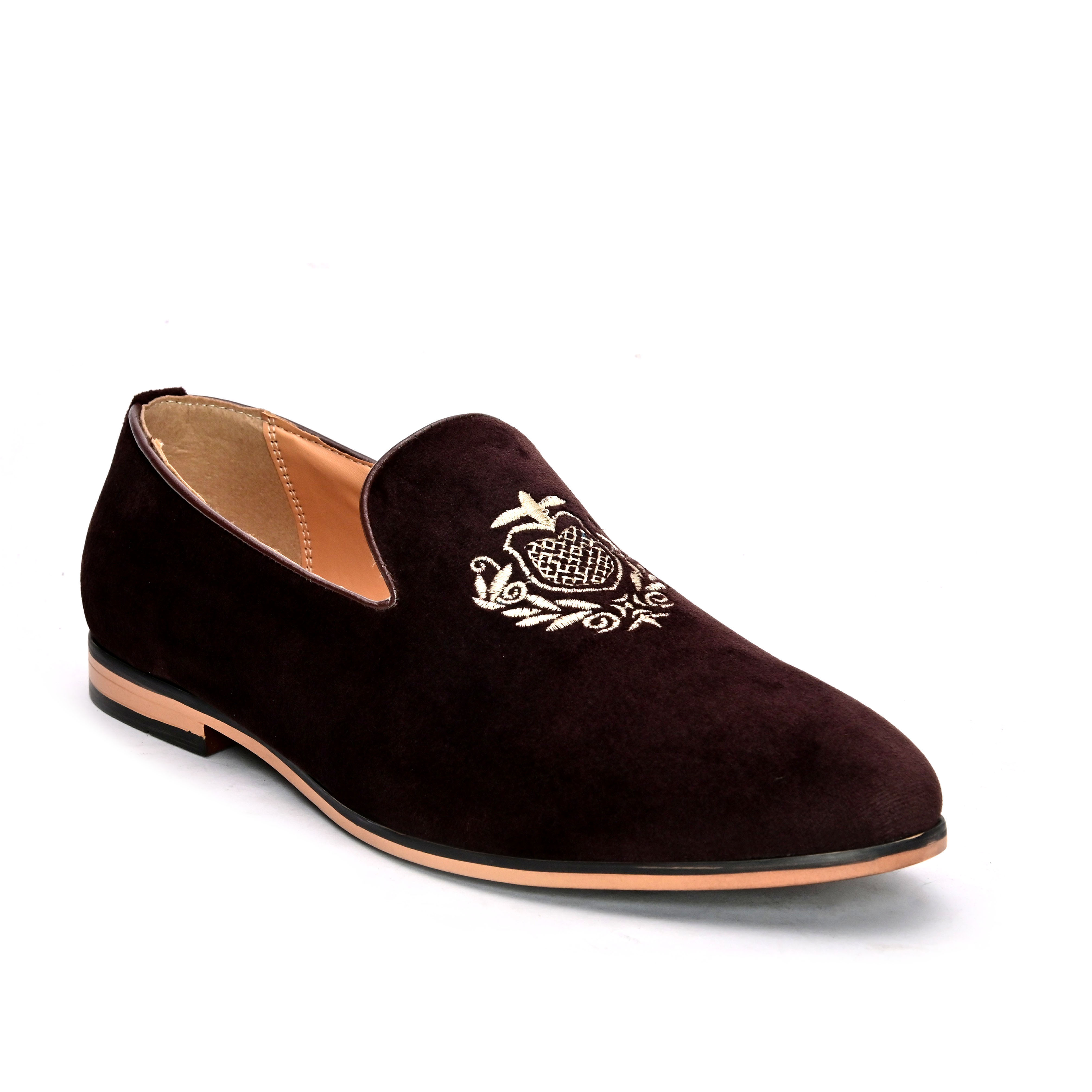 San Frissco | San Frissco Men Faux Leather Realm Embroidered Loafers