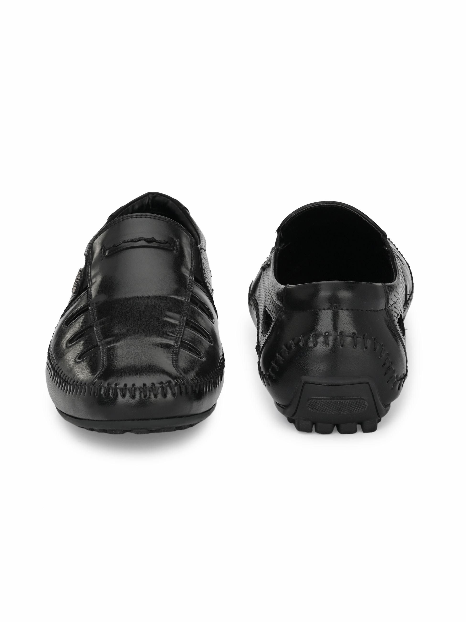 San Frissco   San Frissco Men's Faux Leather Friv Black Sandals
