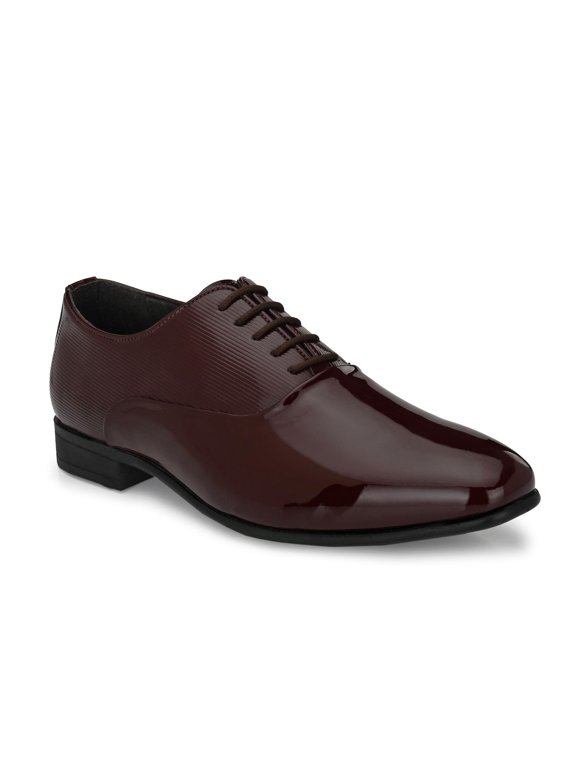 San Frissco | San Frissco Men Roman Cherry Patent Oxfords Faux Leather Oxford