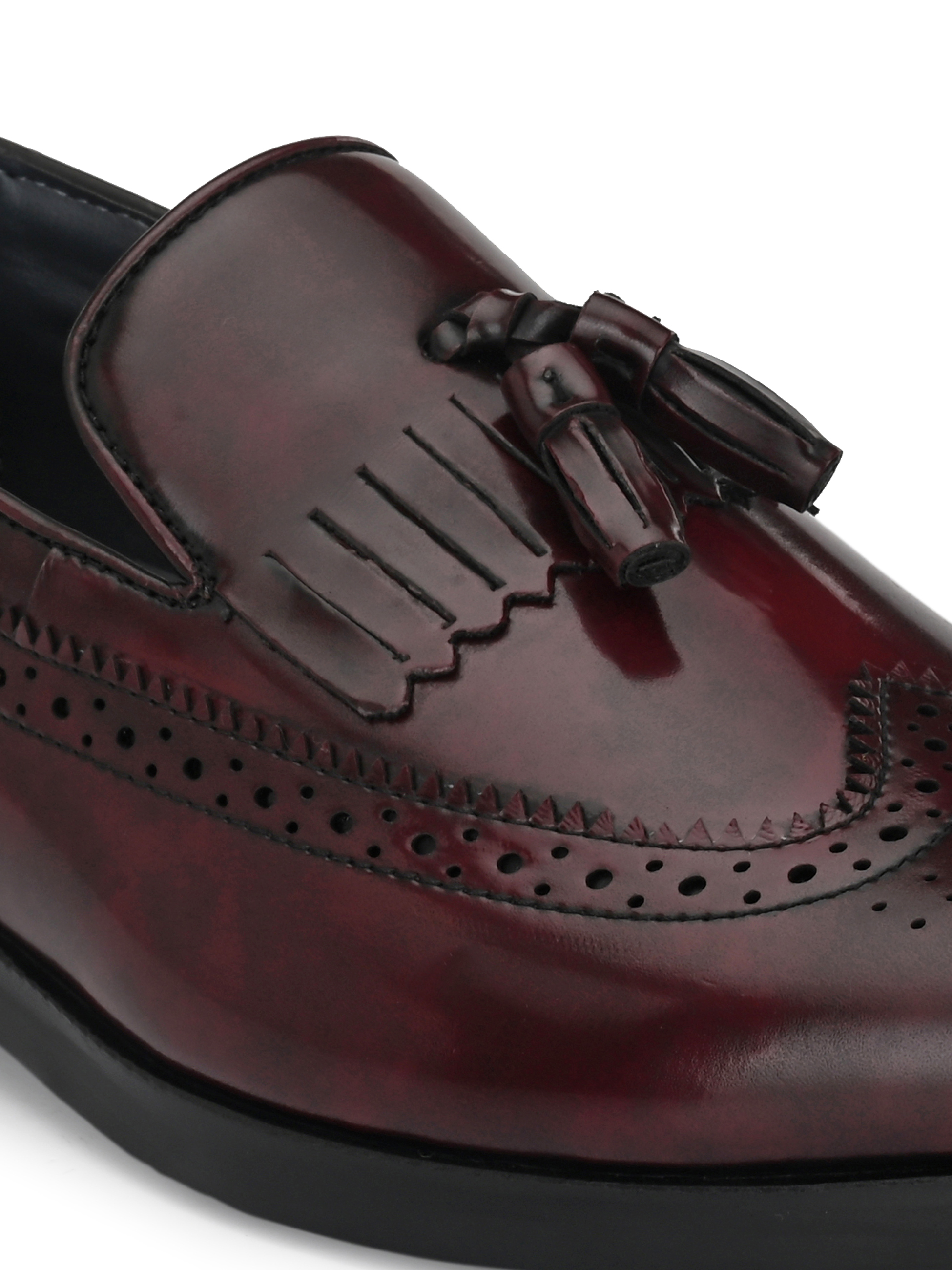 San Frissco | San Frissco Men Eden Kilt Tassel Loafers Faux Leather Casual Loafers