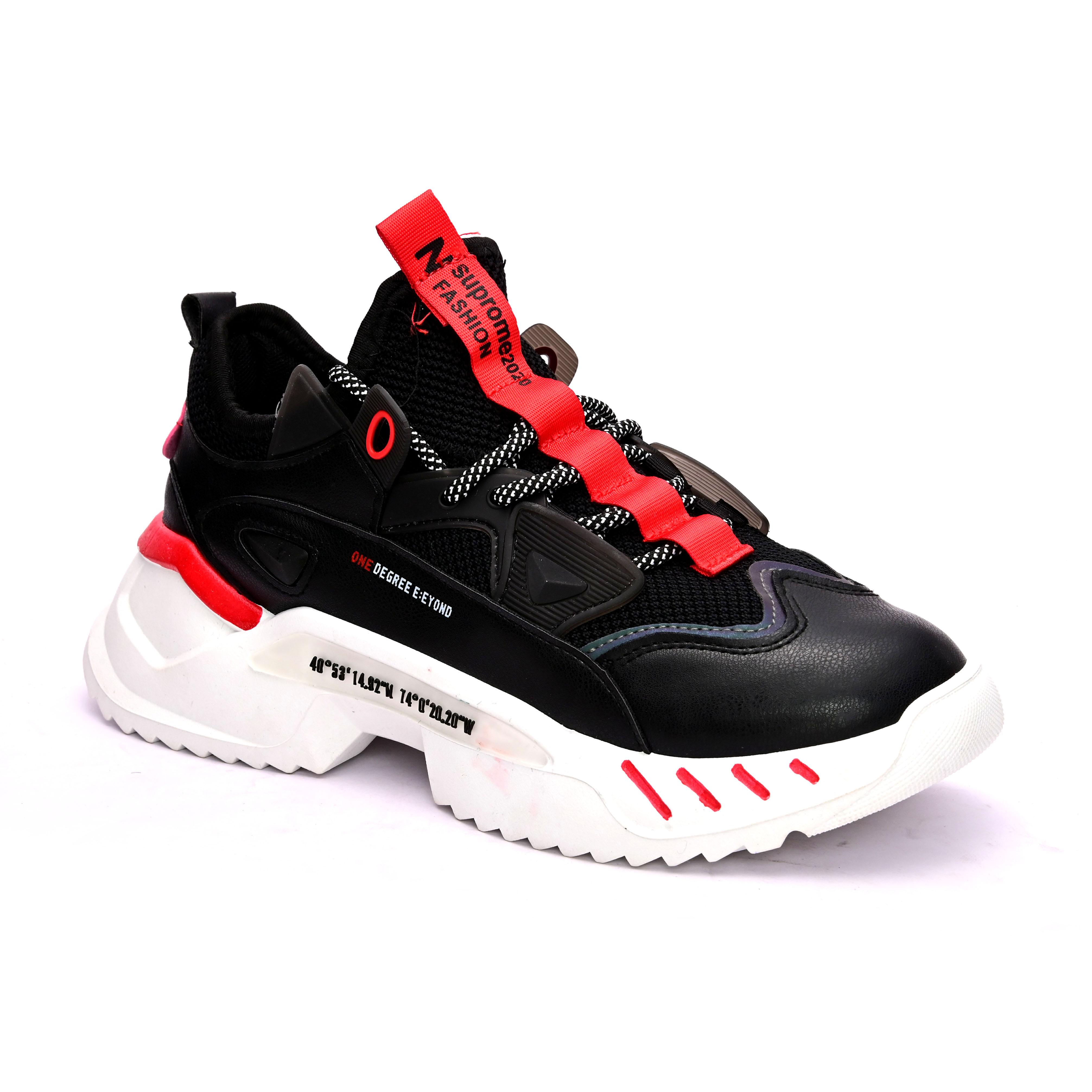 San Frissco   San Frissco Men Faux Leather Delta Black sports Shoes