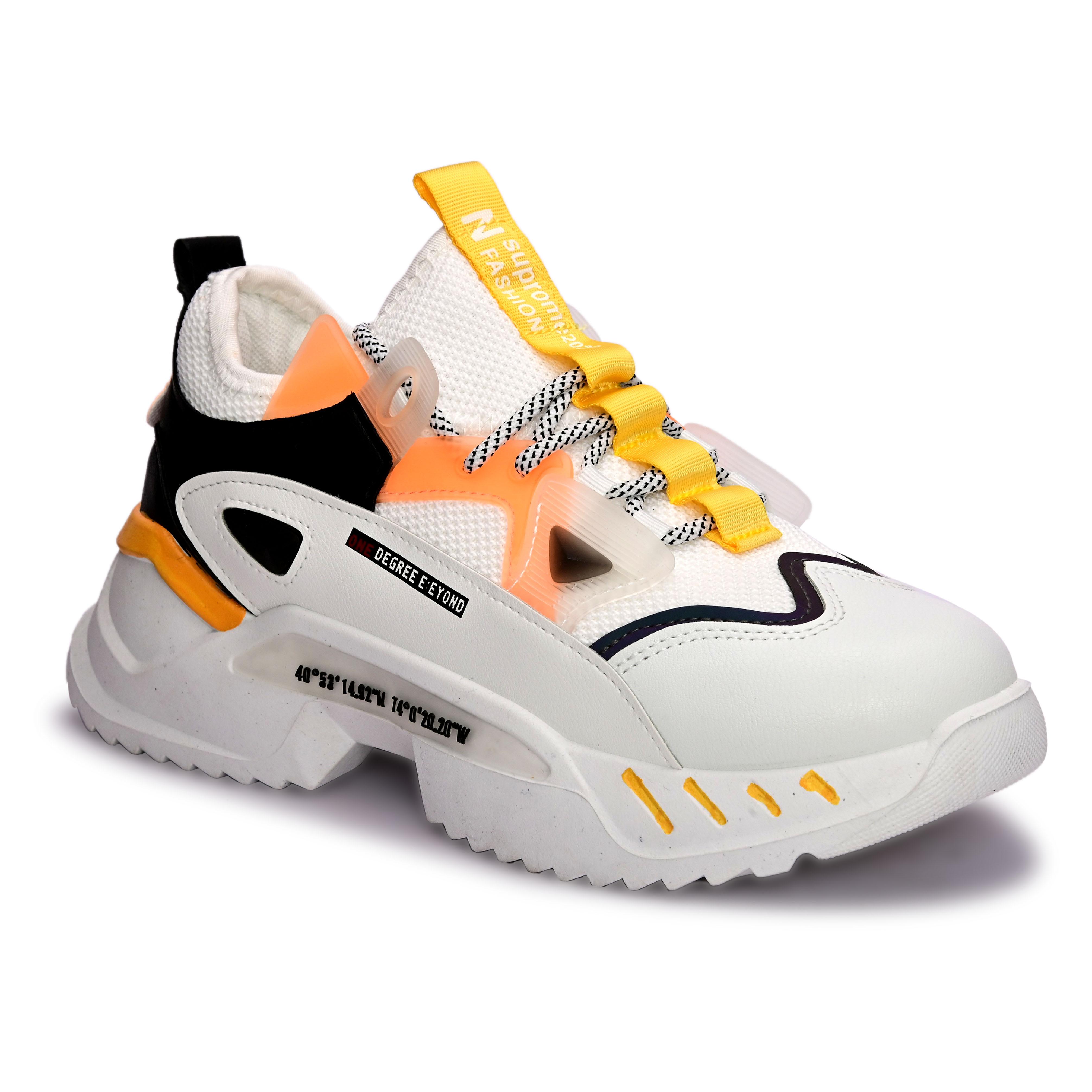San Frissco | San Frissco Men Faux Leather Swoosh White sports Shoes