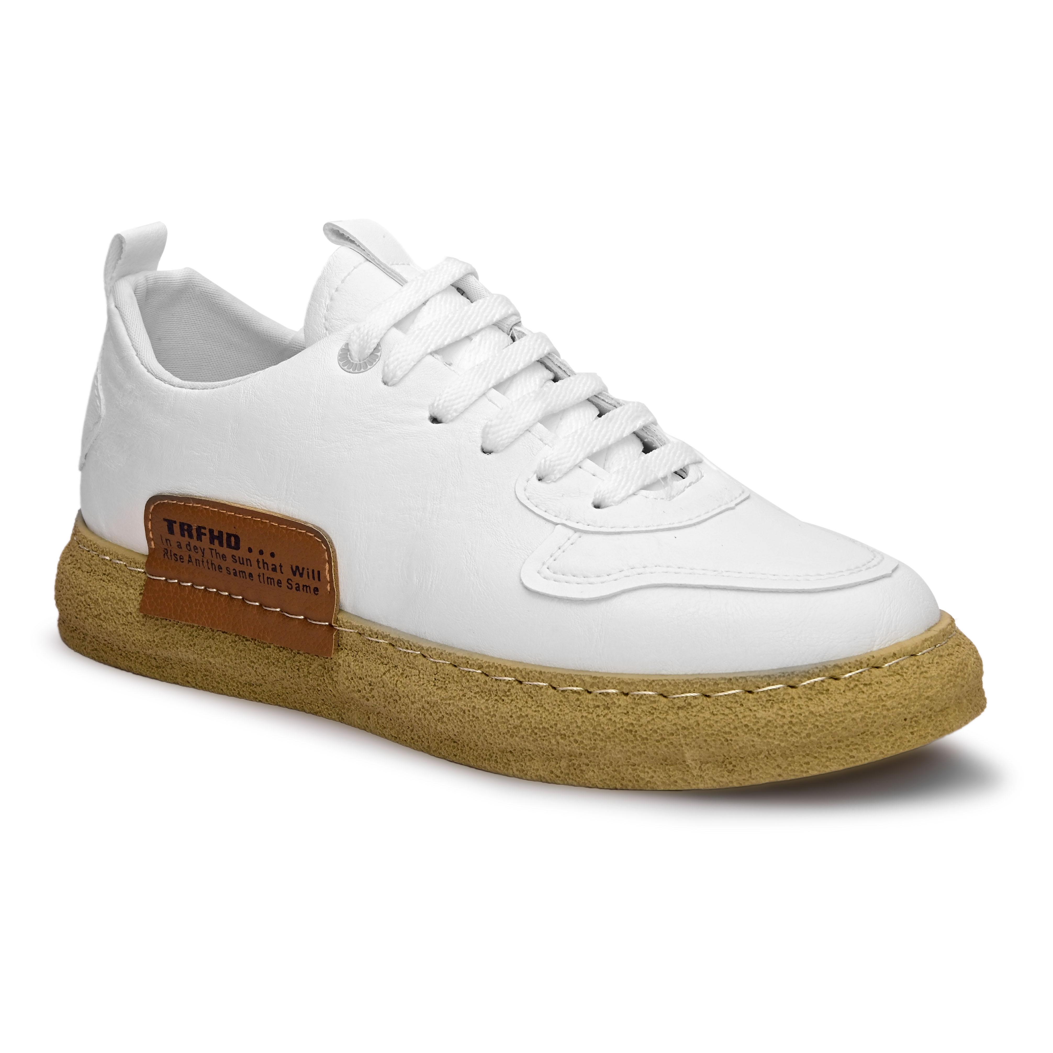 San Frissco | San Frissco Men Faux Leather Turbo White Sneakers