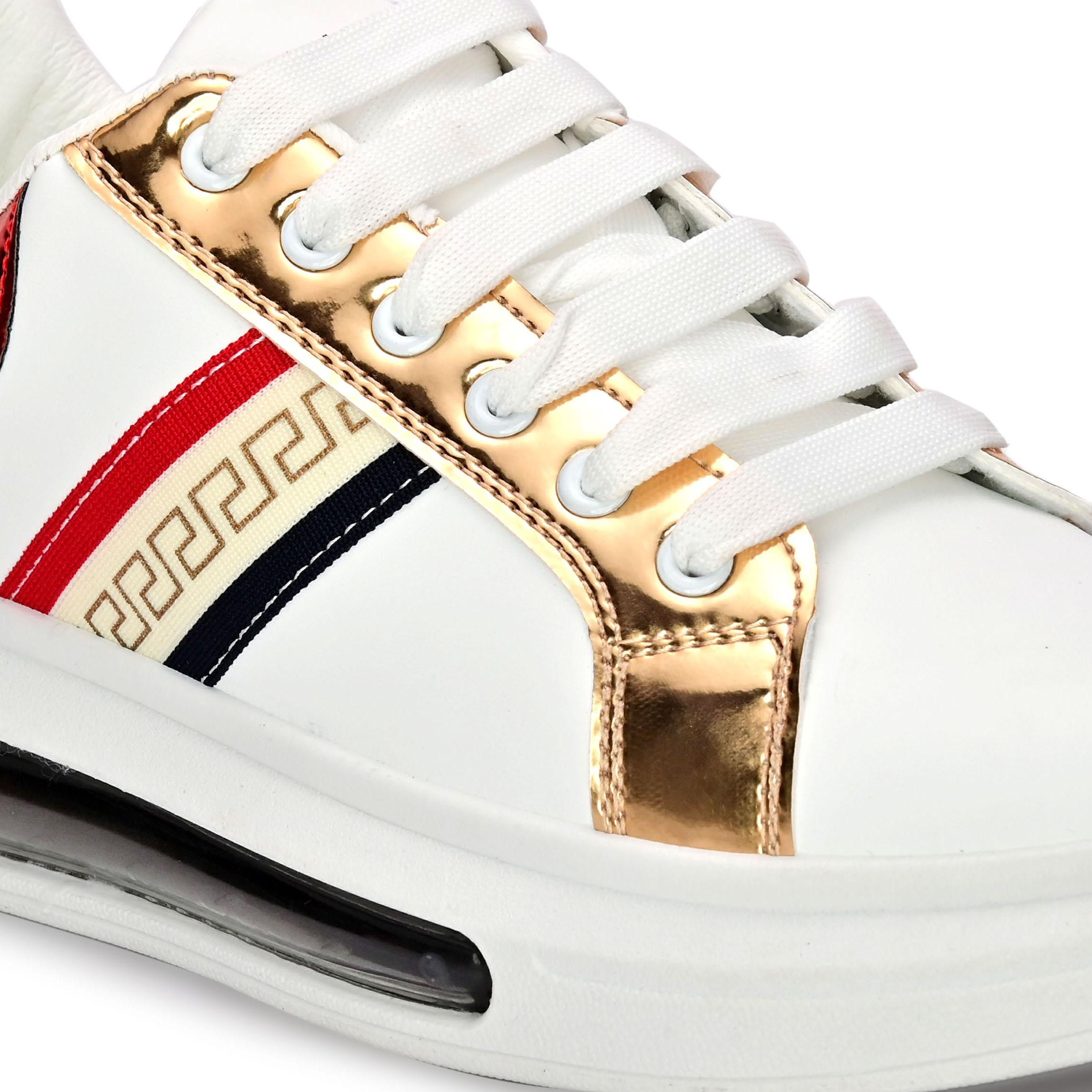 San Frissco | San Frissco Men Faux Leather Allure White Sneakers