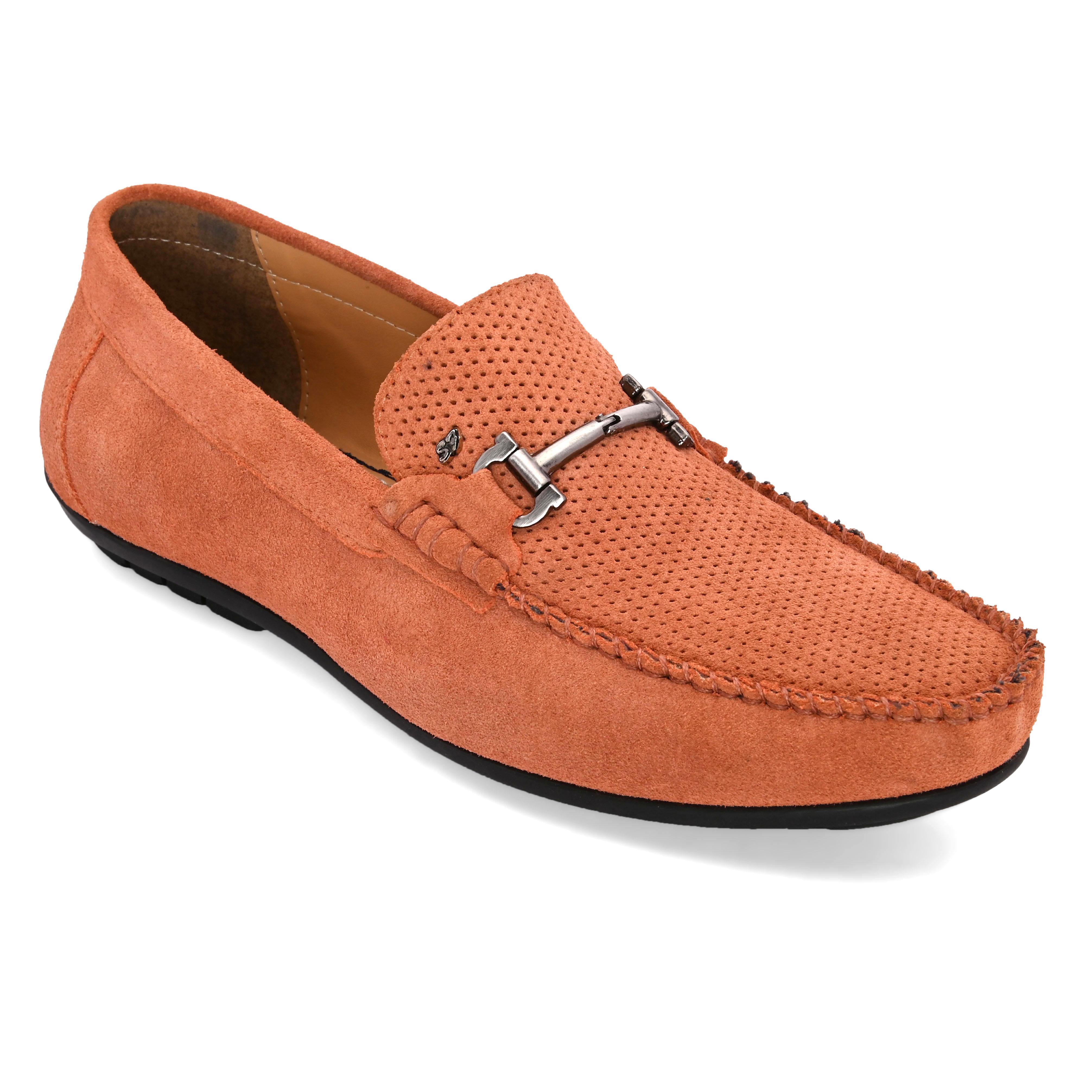 San Frissco | San Frissco Men Genuine leather Stitch Peach Loafers