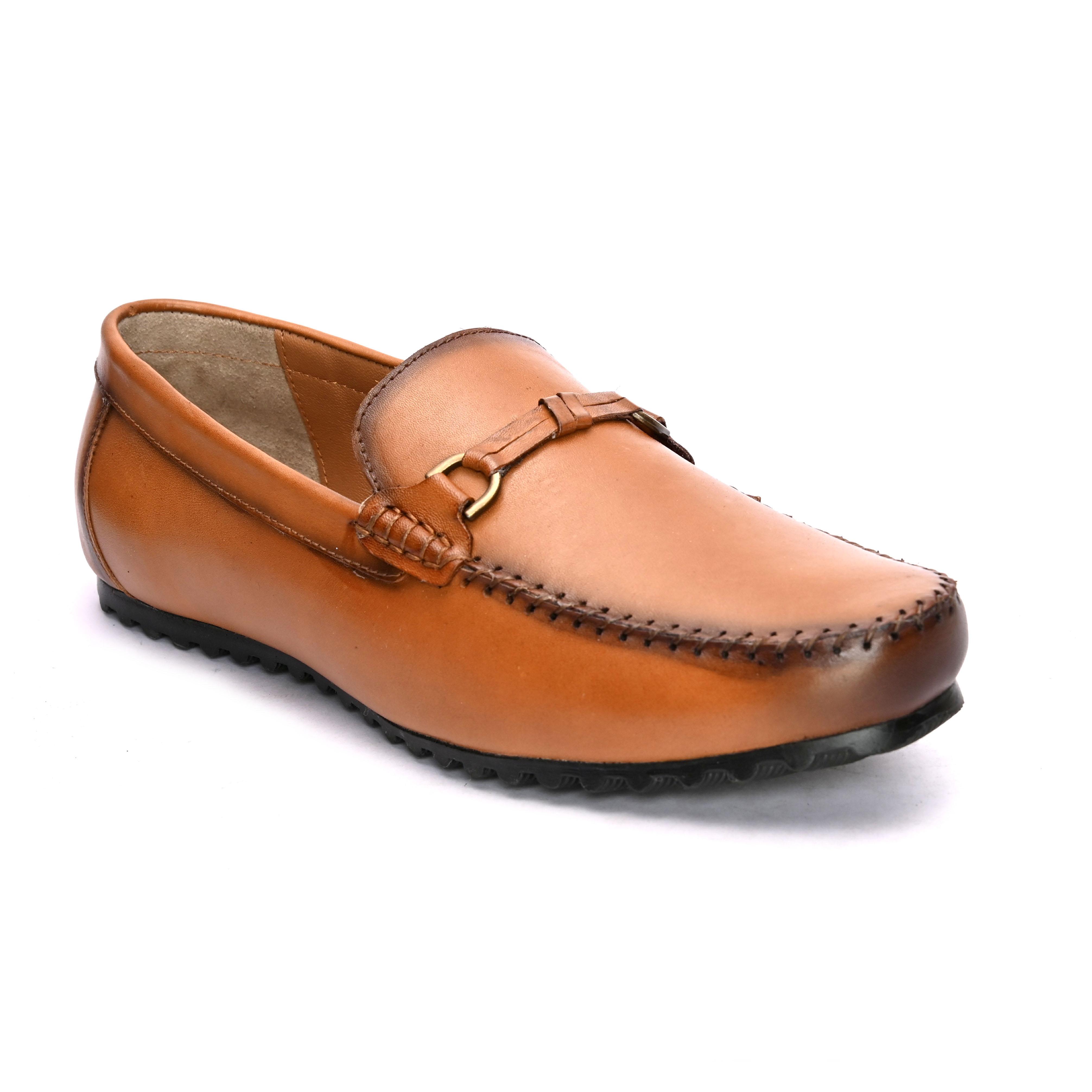 San Frissco | San Frissco Men Italian Leather Como Tan Loafers