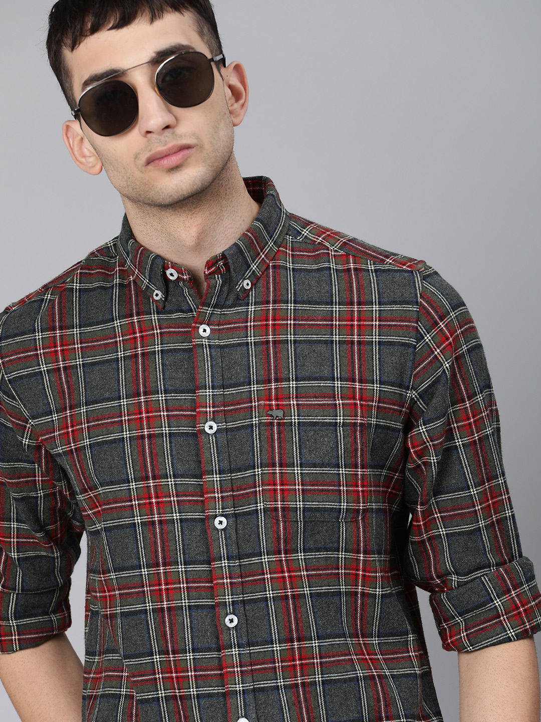 The Bear House | Men's Flannel Button-down Casual Shirt