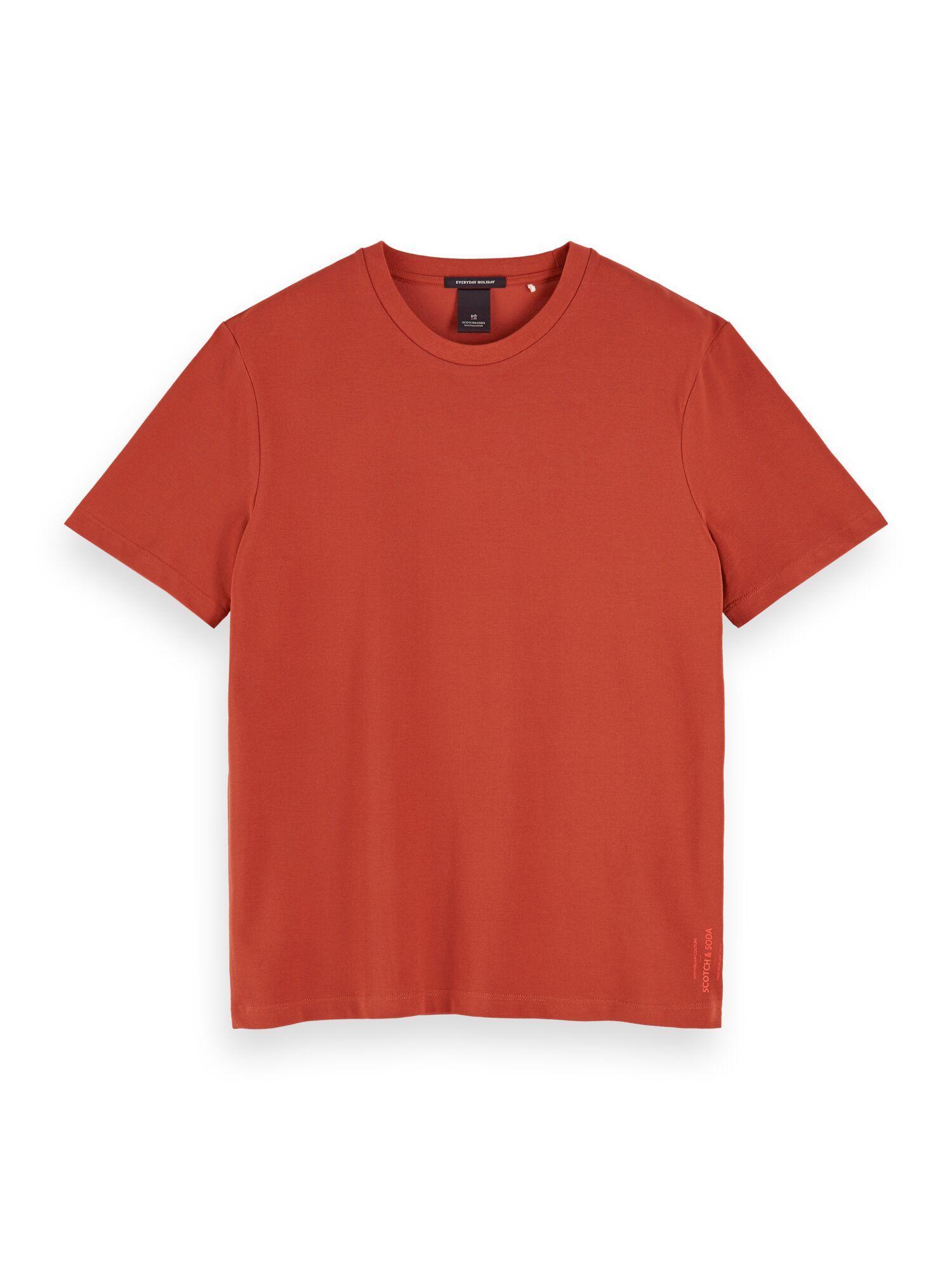 Scotch & Soda | Brown Solid Regular Fit T-Shirt