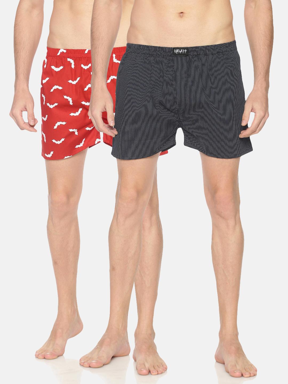 Showoff   SHOWOFF Mens Pack of 2 Cotton Casual PrintedBoxer